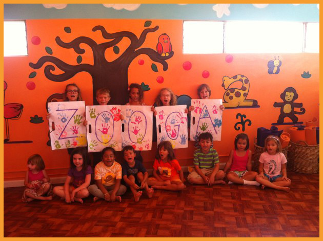 Children enjoying painting and yoga at Zooga Yoga South Bay